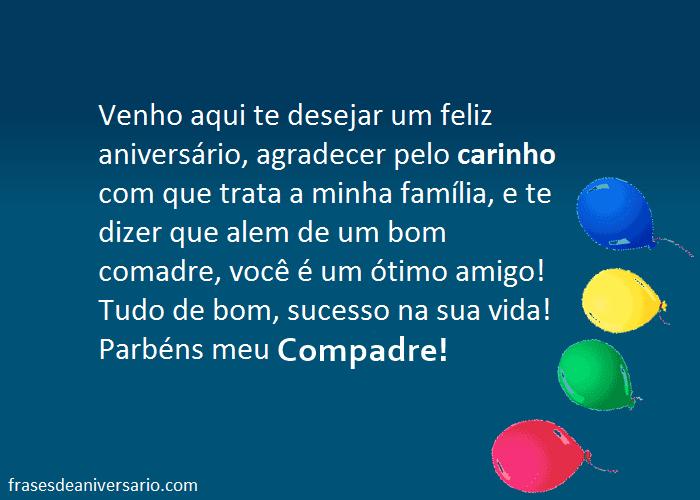 Parabéns Compadre Frases De Aniversário