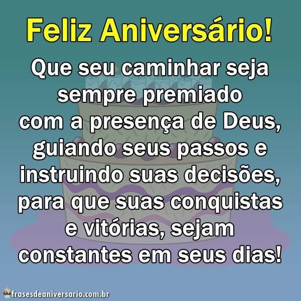Feliz Aniversário Deus Te Guie Sempre Frases De Aniversário