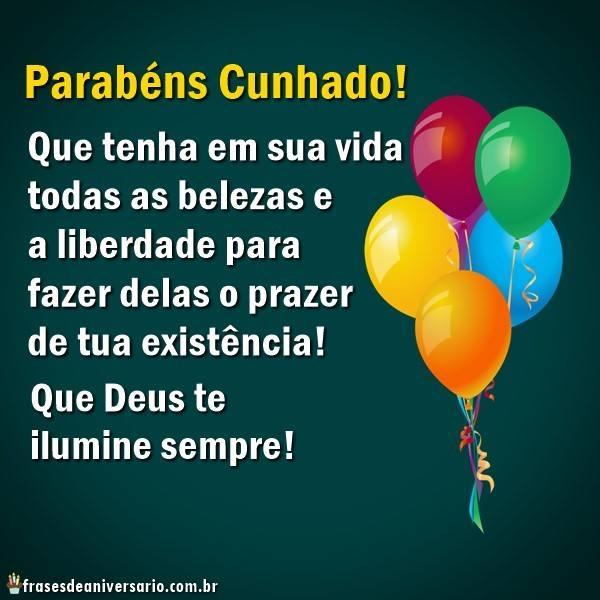 Parabéns Cunhado Deus Te Ilumine Frases De Aniversário