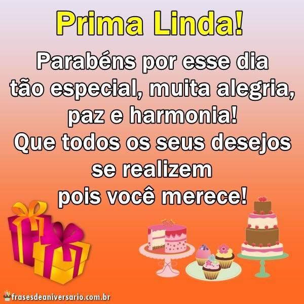 Prima Linda Parabéns