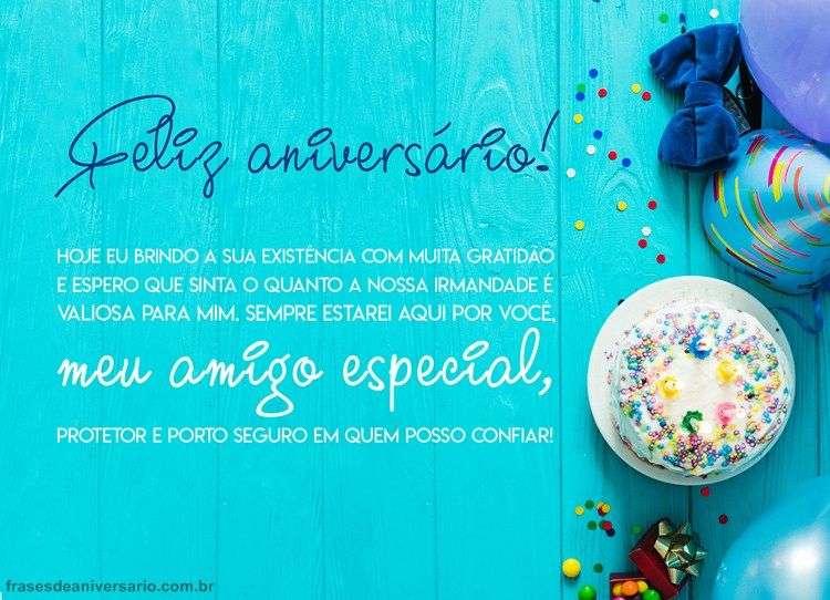Parabéns Meu Amigo Especial Frases De Aniversário