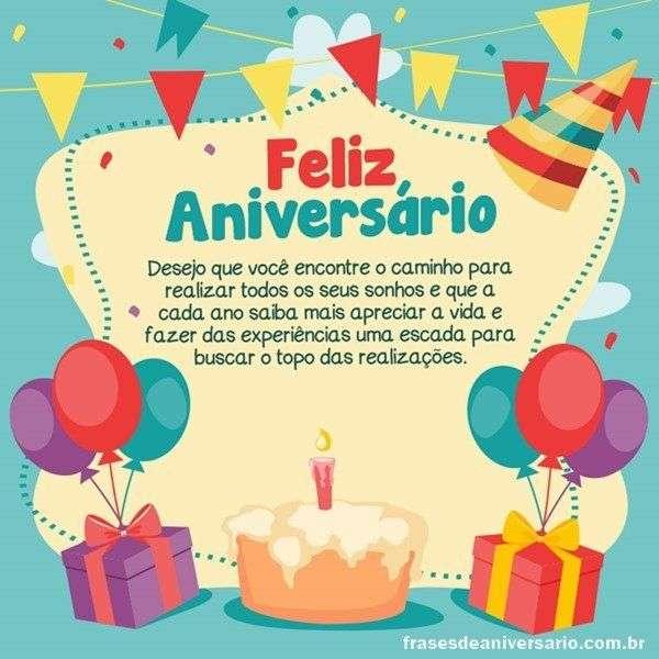 Parabéns Te Desejo Muito Sucesso Frases De Aniversário