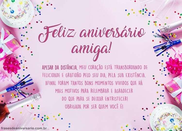 Mensagem De Aniversario Para Amiga Especial: Feliz Aniversário, Amiga, Que Seu Sorriso Seja Constante