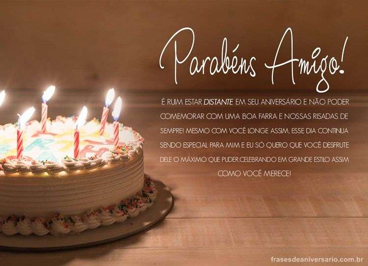 Feliz Aniversário Para Amigo Distante Frases De Aniversário