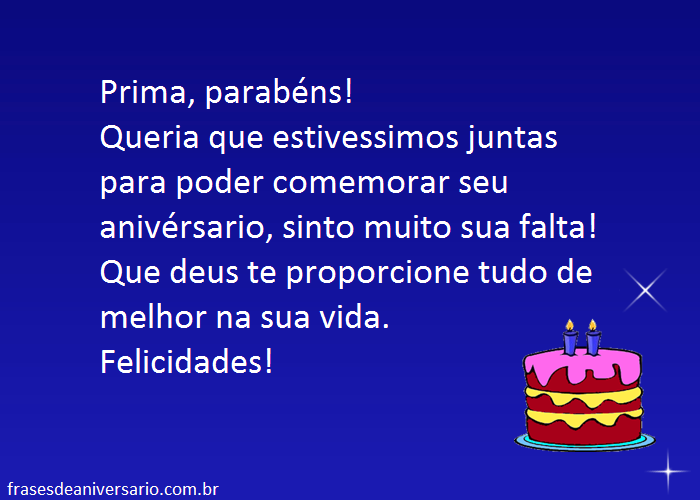 Feliz Aniversário Prima Distante Frases De Aniversário Page 12756