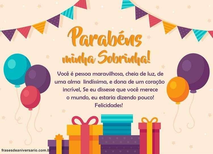 Mensagem De Aniversário Para Sobrinha Frases De Aniversário