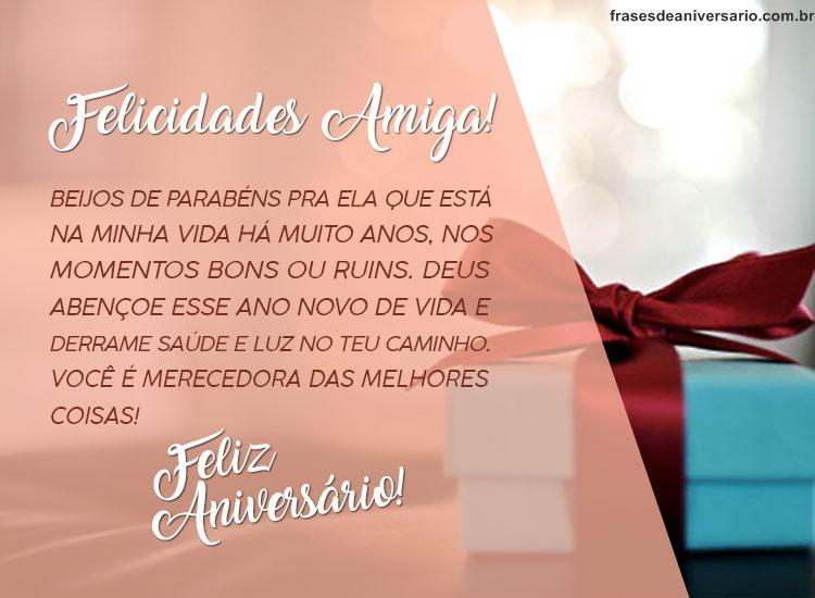 Feliz Aniversário Amiga Felicidades