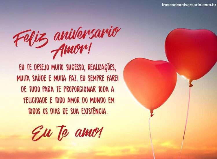 Mensagem De Aniversário Para Namorado E Feliz Aniversário Amor