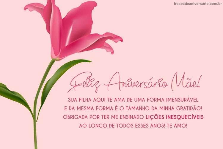 Mensagem De Aniversário Para Mãe Frases De Aniversário