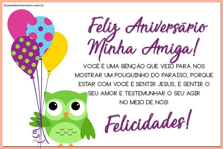 Feliz Aniversário Amiga do Facebook coruja