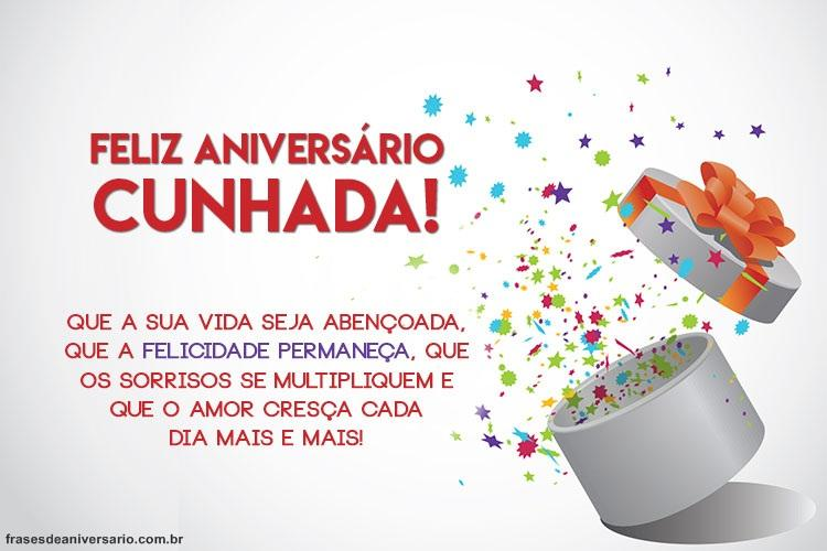 Mensagem De Aniversario Para Cunhada Amiga: Feliz Aniversário Cunhada Muita Paz E Felicidades