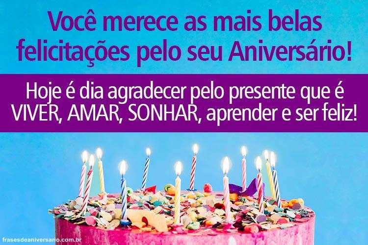 Felicitações Pelo Seu Aniversário Frases De Aniversário