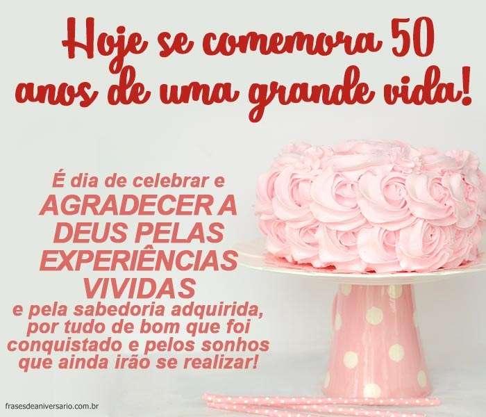 Mensagem De Aniversário De 50 Anos Frases De Aniversário