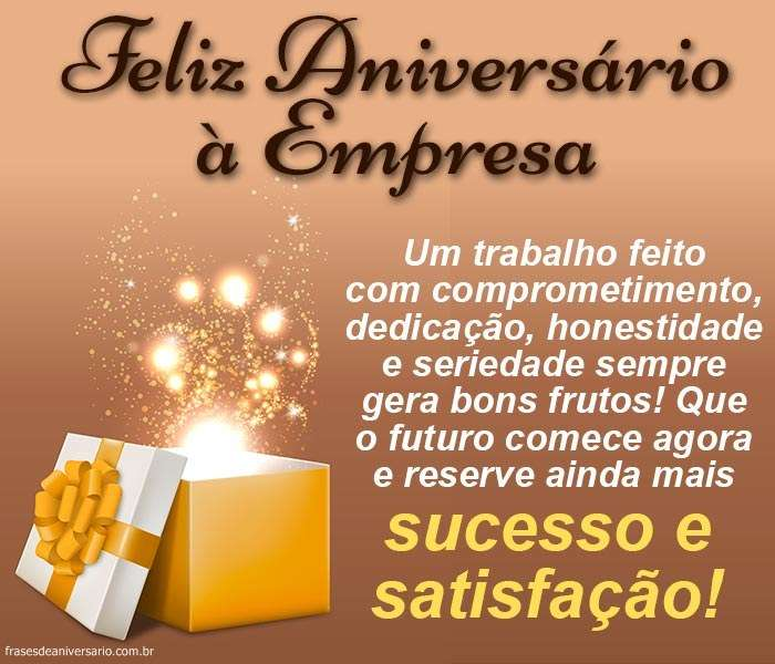 Mensagens De Aniversario De Empresa Frases De Aniversário