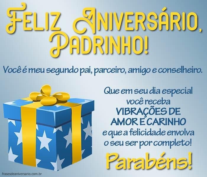 Feliz Aniversário Padrinho Deus Te Abençoe Frases De Aniversário