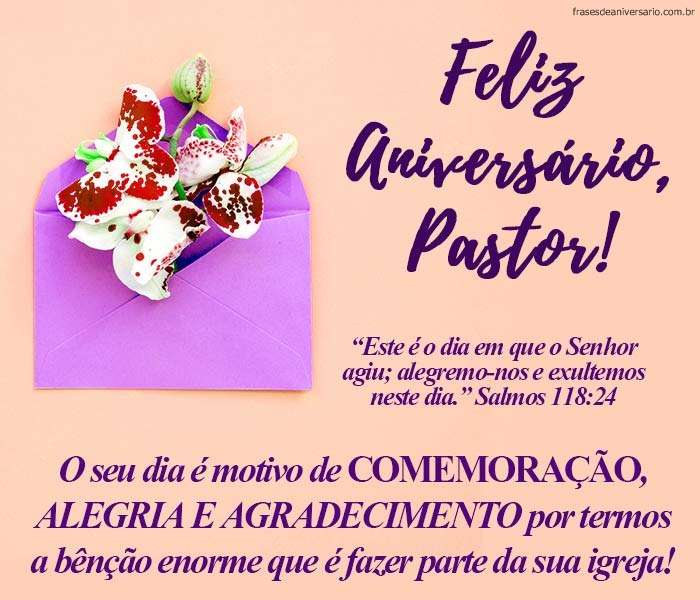 Versículo Para Aniversário Para Pastor Frases De Aniversário
