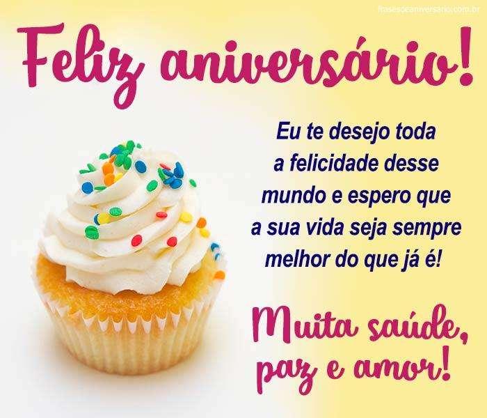 Feliz Aniversário! Muita Saúde e Amor!