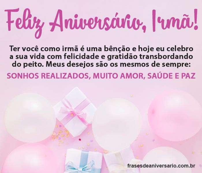 Mensagem De Aniversário Para Irmã Frases De Aniversário