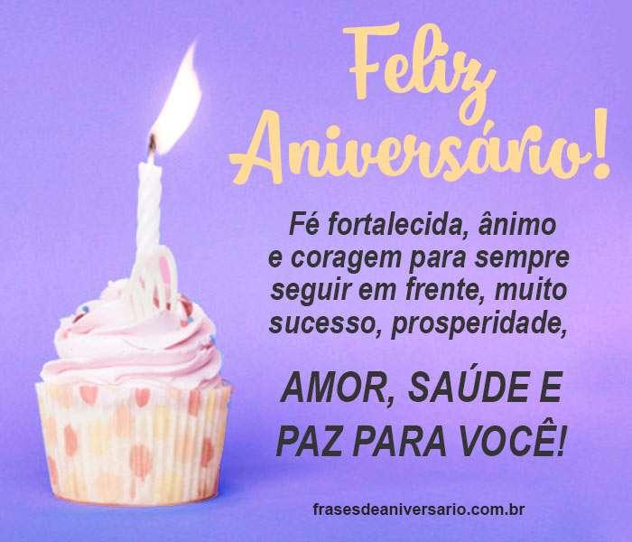 Feliz Aniversário Amor saúde e paz
