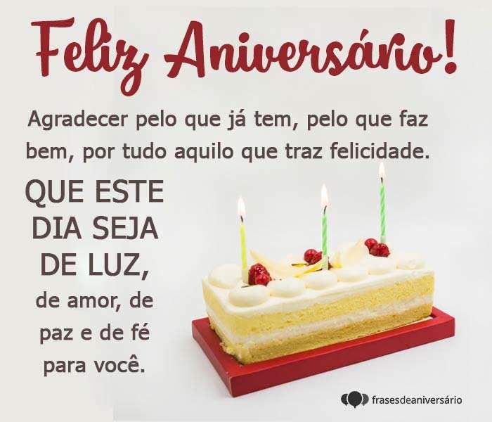 Feliz Aniversário, Só Agradecer!