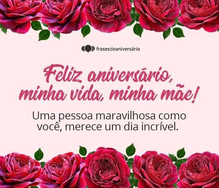 Feliz Aniversário minha Vida, minha Mãe!