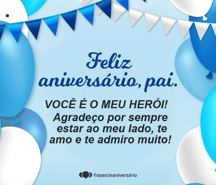 Feliz aniversário Pai, Você é meu herói!