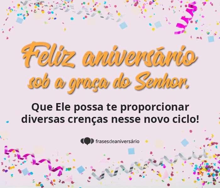 Feliz aniversário sob a Graça do Senhor