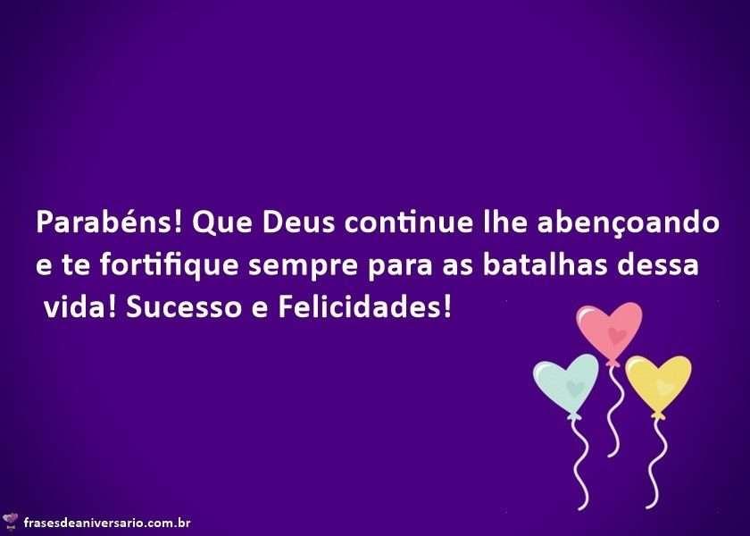 Parabéns Que Deus Continue lhe Abençoando