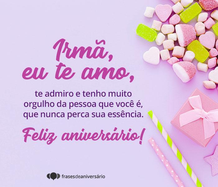 Irmã, eu Te amo e Admiro!