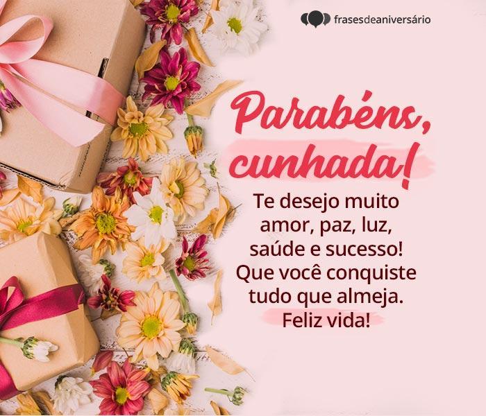 Deseje Parabéns e Felicidade Para Sua Cunhada Querida!