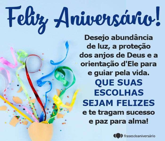 Feliz Aniversário com a Orientação de Deus