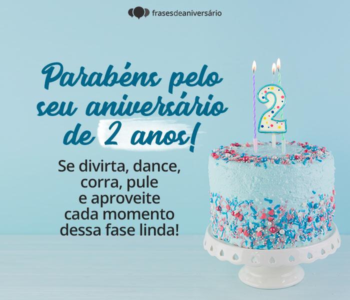 Parabéns Pelo seu Aniversário de 2 Anos!