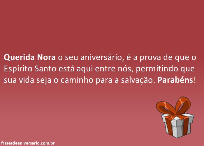 Querida Nora, Parabéns!