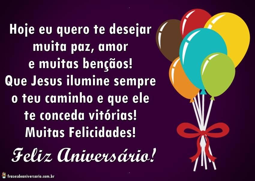Feliz Aniversário Evangélico balões