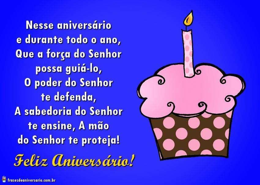 Mensagem de aniversário Evangélico com bolos