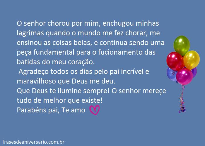 Mensagem de Aniversario Para Pai Frases de Anivers Rio Para Pai