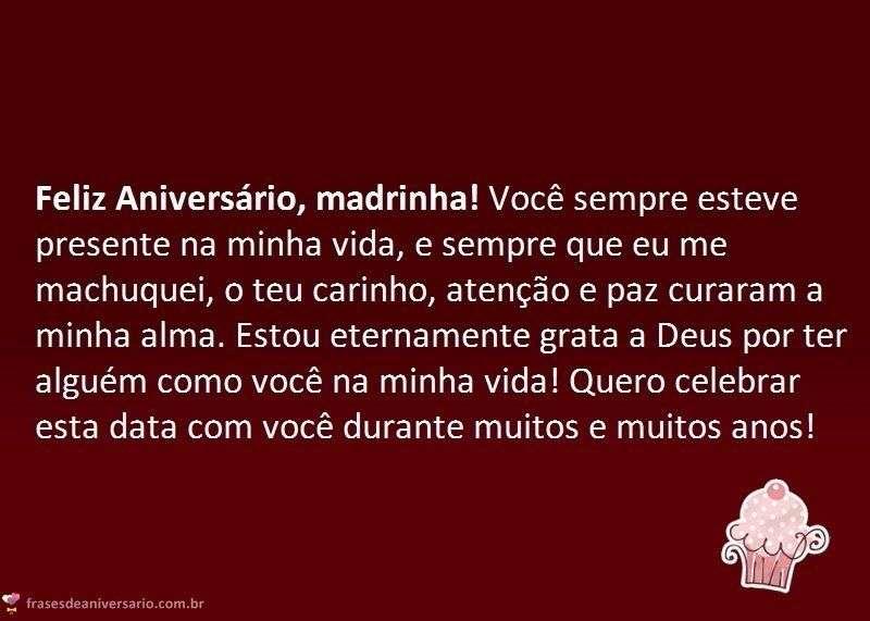 Parabéns Para Madrinha Frases De Aniversário