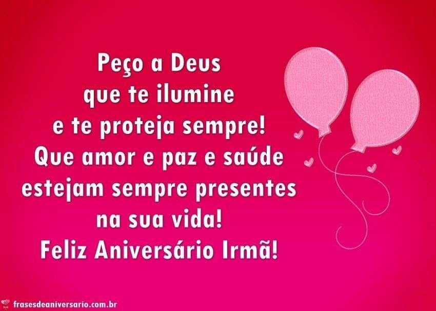 Feliz Aniversário Irmã Deus Te Proteja Frases De Aniversário
